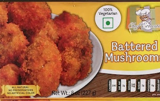 A borrowed image of the box to Chef Ernesto Battered Mushrooms