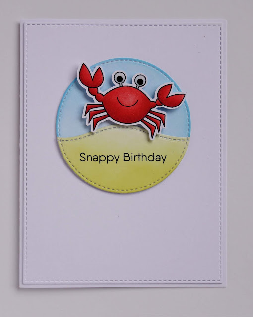 Handmade personalisable crab pun birthday card (image from Just Beclaws by MFT)