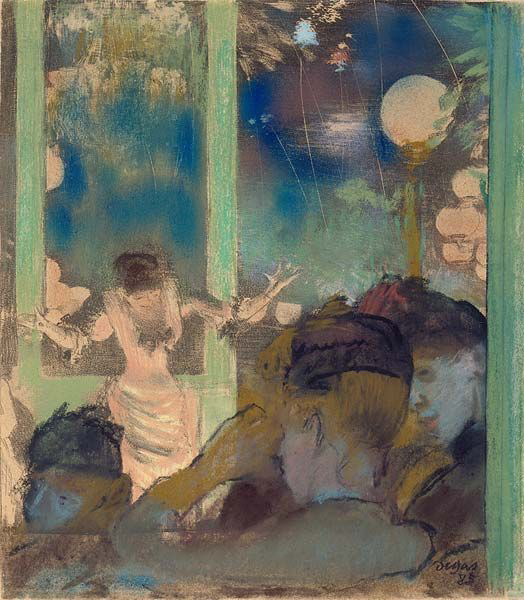At the Cafe des Ambassadeurs by Edgar Degas