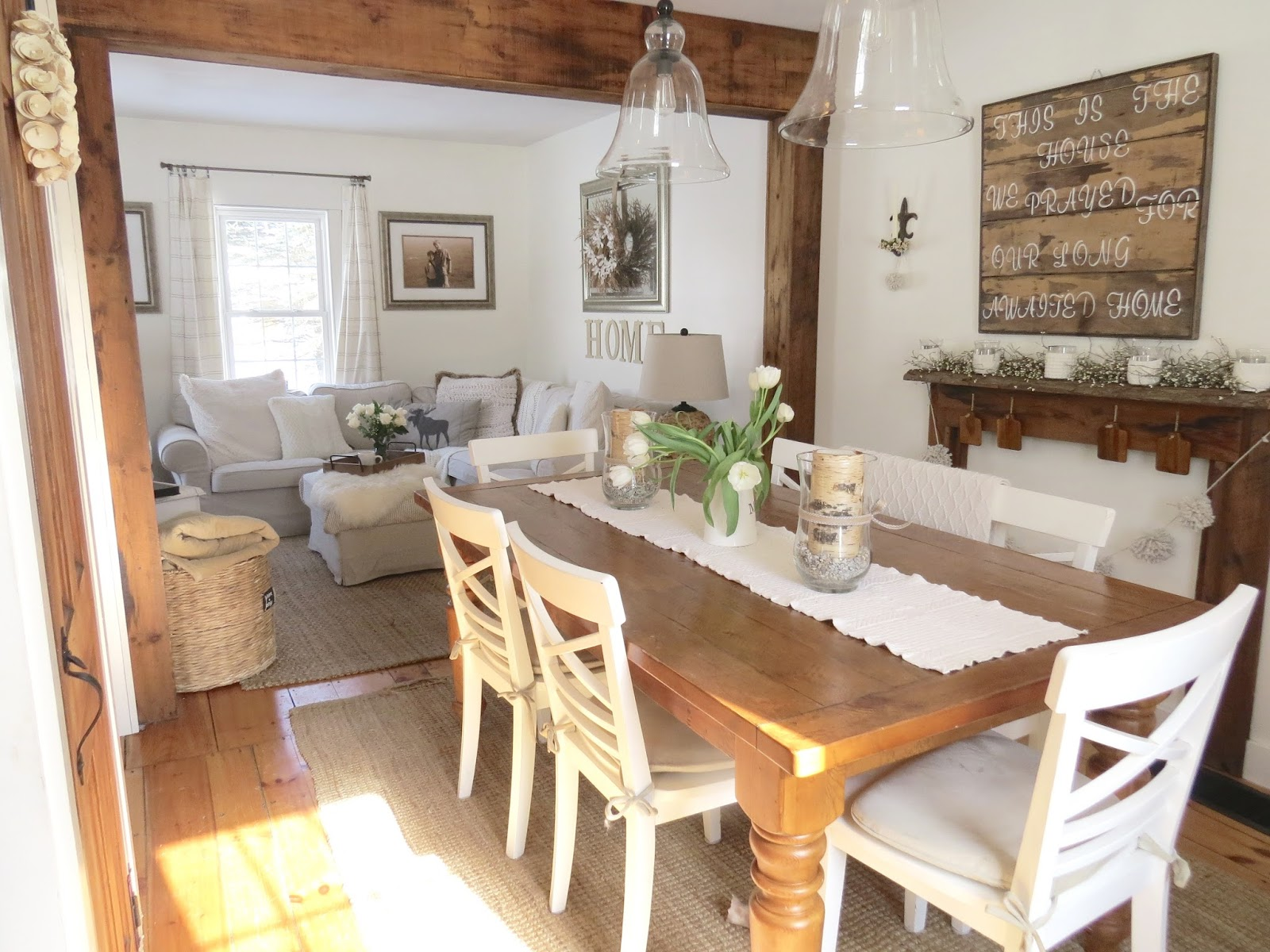 The Long Awaited Home Small House Living  Dining Room