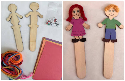 Stick-puppet craft, DIY stick puppets