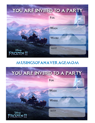 frozen 2 birthday invitations