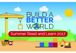 Image for Summer Read and Learn 2017 with cartoon construction equipment