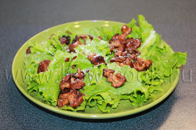 рецепт теплого салата с лисичками с пошаговыми фото