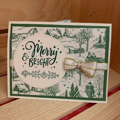 Easy Stampin' Up! Christmas Card