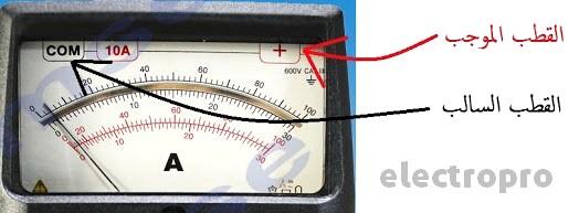 طريقة ربط جهاز الامبير متر في الدارة الكهربائية