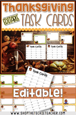 Editable Task Cards with Recording Sheets