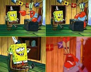meme spongebob spongebob membangkang