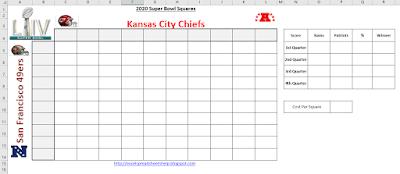 2020 super bowl squares spreadsheet