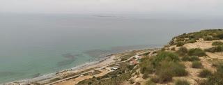 La Isla de Tabarca desde el Mirador del Faro de Santa Pola.