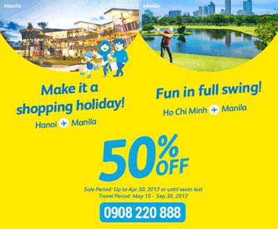 Cebu giảm giá đến 50% đi Manila