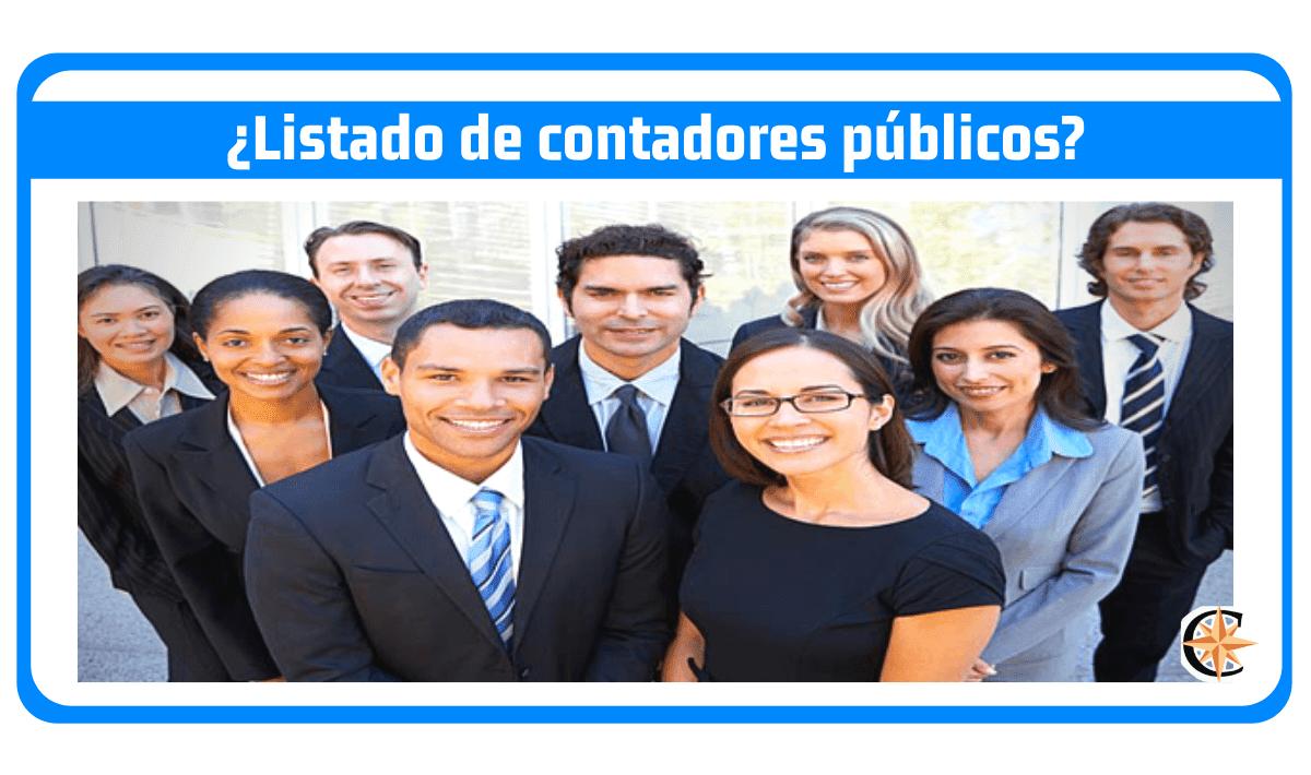Listado de Contadores Públicos