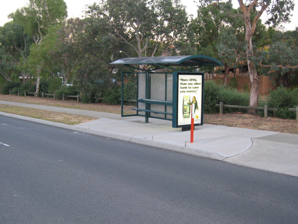 perth bus stop throughout perth and its suburb areas outside perth city