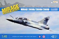 maquette du Mirage 2000 B de Kinétic au 1/48.