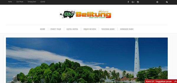 Website Belitiungnature