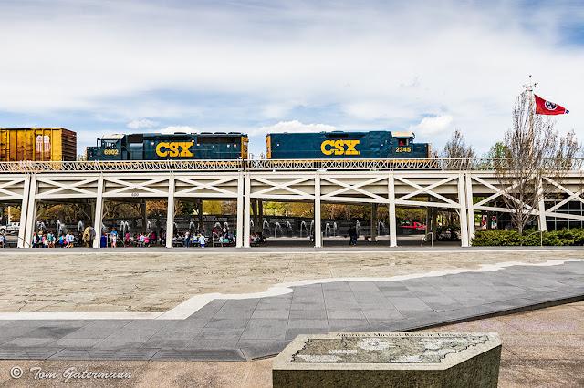 CSXT 2345 and CSXT 6902 at Tenn Map Plaza