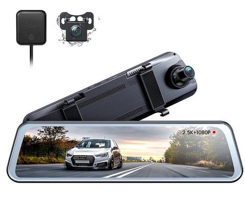 Sevensnow 2.5K Mirror Dash Cam Camera for Cars with GPS