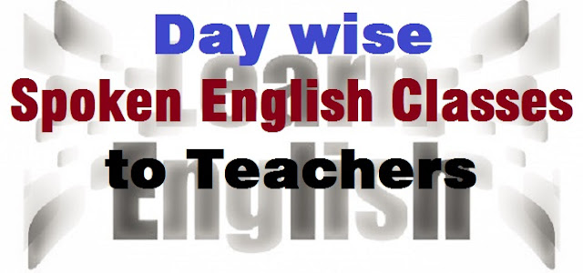 Day wise,Spoken English,teachers