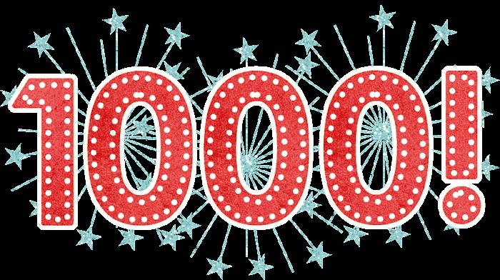 Completamos 1000 Postagens!!!