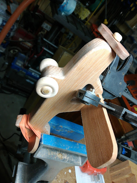 Handmade Wood Toy Airplane - Thinner Parts Are Cut From Thick Stock And Resawn With A Shopsmith Band Saw