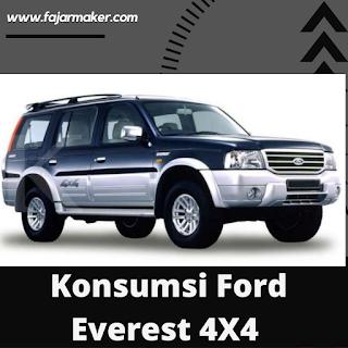 Konsumsi BBM Ford Everest 4X4