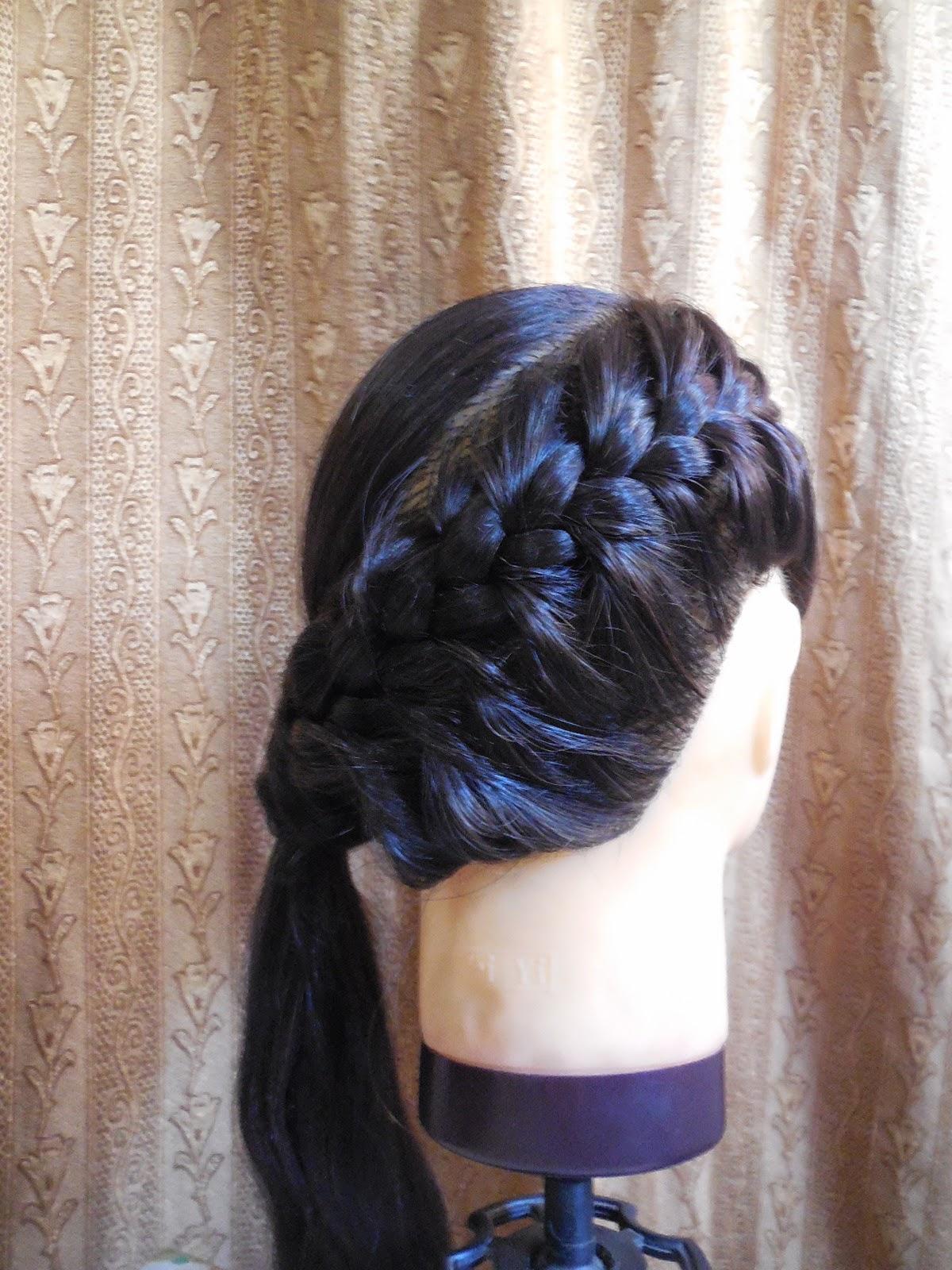 Superb French Braid Ponytail Tutorial Indian Beauty Touch Short Hairstyles Gunalazisus