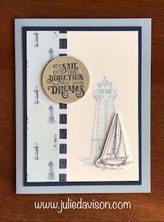 Stampin' Up! Come Sail Away Designer Paper ~ Sailing Home Projects ~ 2019-2020 Annual Catalog