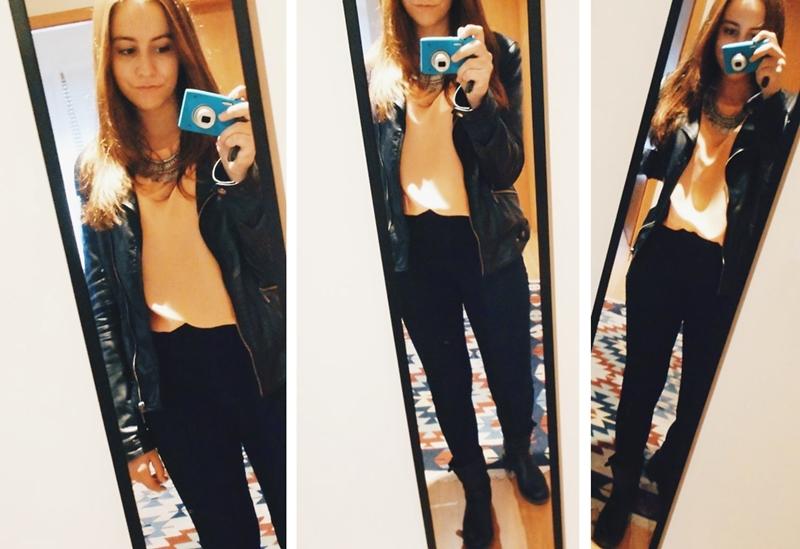 look calças cintura subida
