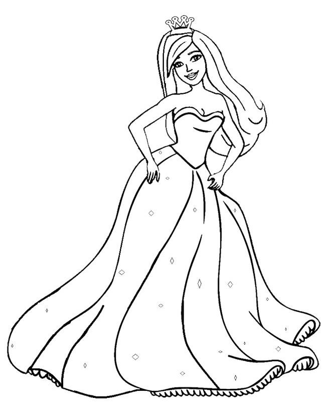 Gambar Mewarnai Barbie Princess Terbaru Gambarcoloring