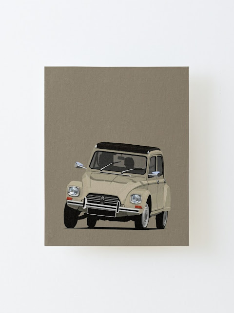 Citroën Dyane car illustration art print