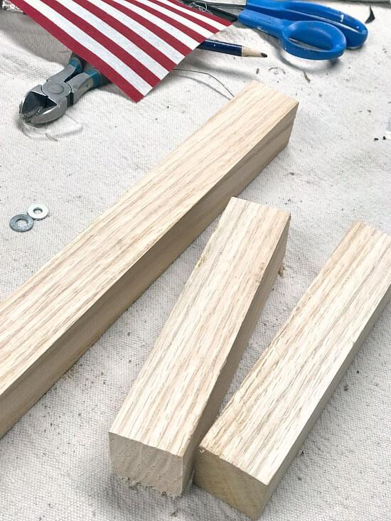 Wooden Oak trim blocks