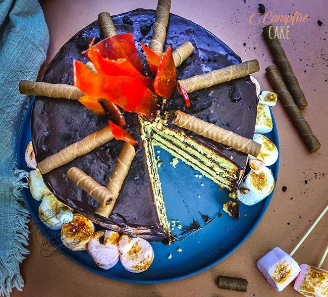 campfire cake français