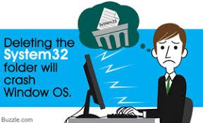 Delete system32 precaution
