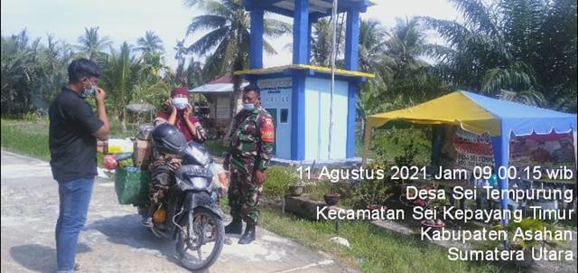 Sinergitas Personel Jajaran Kodim 0208/Asahan Dengan Laksanakan Komsos Dengan Perangkat Desa