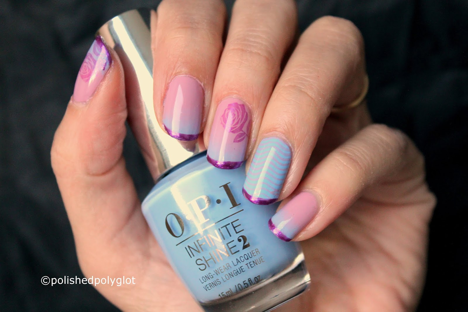 Nail Art Blue Pink And Purple Nail Design When Colors Collide Challenge Polished Polyglot,Modern Minimalist House Design Ideas