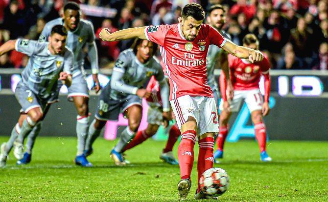 Pizzi marcou o golo do empate para o Benfica