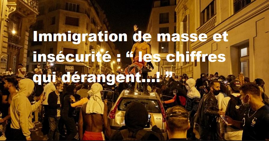 """Immigration de masse et insécurité : """"les chiffres qui dérangent...!"""""""
