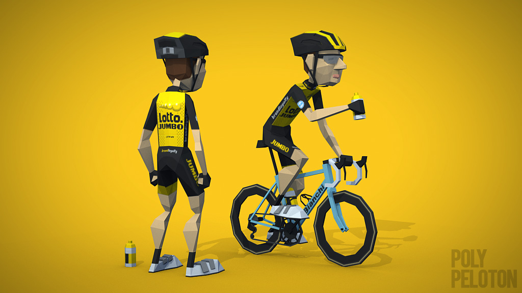 Poly Peloton  2018 Kit   Team LottoNL-Jumbo f6c62d33e