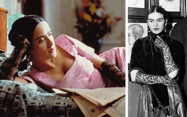 Frida Kahlo com vestido de festa