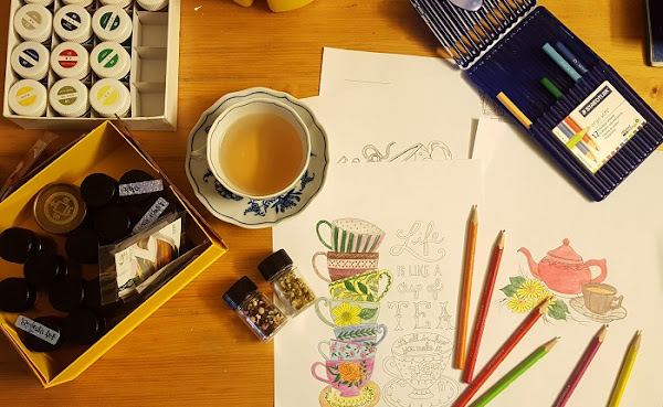 Imager: Desk with mug and coloring pencils | Photo by Tea Creative/Soo Chung on Unsplash