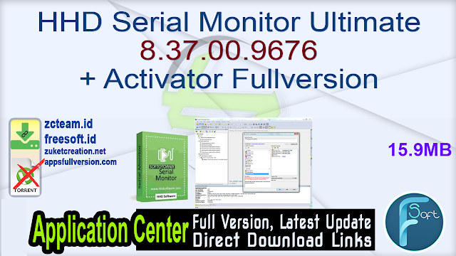 HHD Serial Monitor Ultimate 8.37.00.9676 + Activator Fullversion