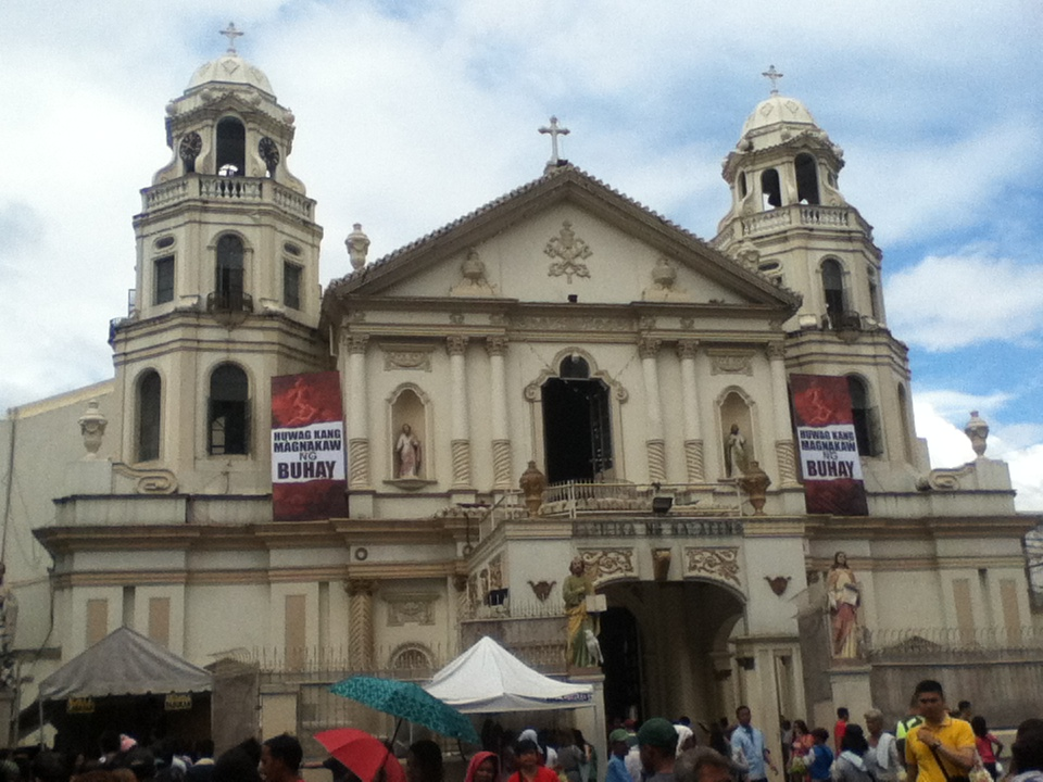 Outside Quiapo church on a Sunday