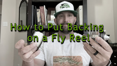 Fly Line Backing, How to put fly line backing on, How to put backing on a fly reel, Putting line on a fly reel