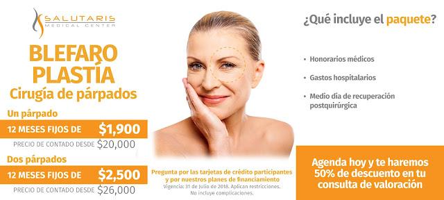 Paquete cirugia plastica parpados ojos blefaroplastia precio costo Guadalajara Mexico