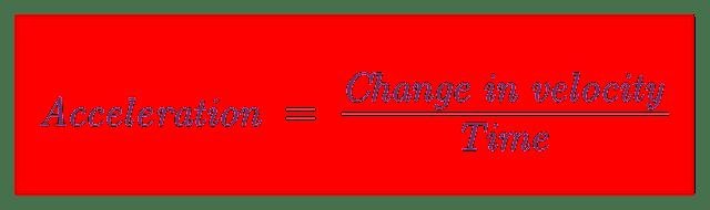 acceleration formula