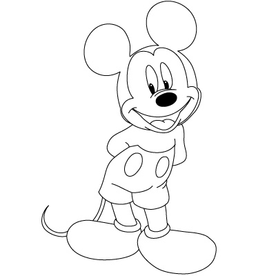 Cara Menggamabar Mickey Mouse Menggambar Asik