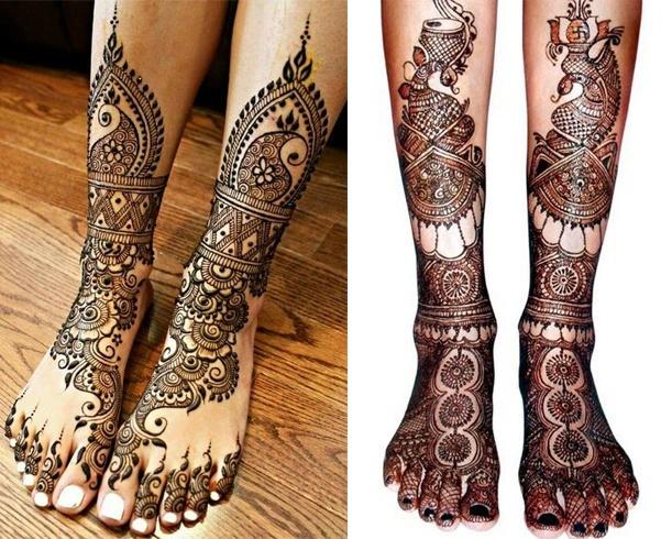 Bridal Feet Mehndi Design