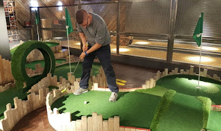 Indoor minigolf at Lane7 in Newcastle upon Tyne
