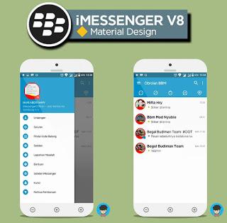 Download BBM MOD iMessenger V8 Material v3.1.0.13