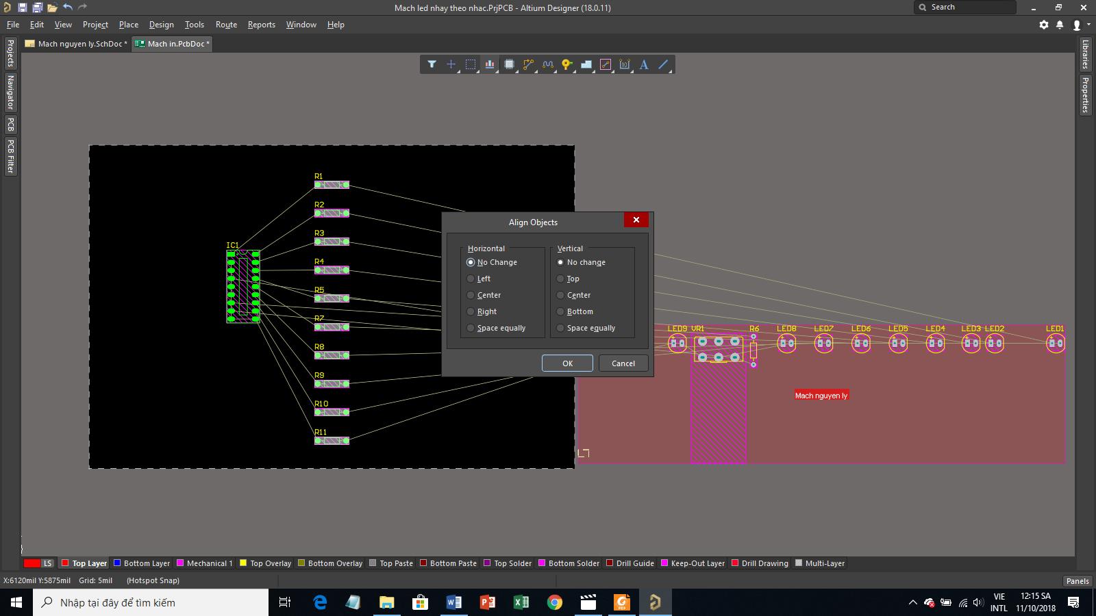 Hướng dẫn thiết kế Mạch nháy theo nhạc bằng Altium Designer (P2)